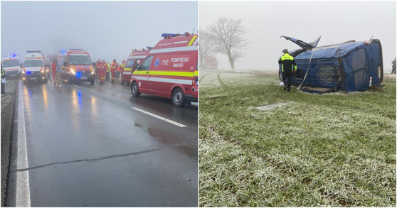 Imaginea articolului Two Dead, Twenty Wounded after Shuttle Overturns in Constanta County